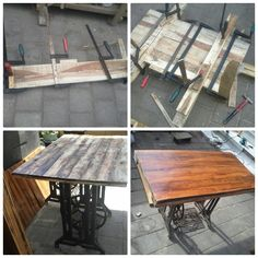 We Upcycle a sewing machine legs into a beautiful table,  Pallet wood material, put it as your registration table in your wedding day.  For your information about our product and pricelist, contact us via;  FB; Bali Rustic Rental Instagram : bali rustic rental Email : goesbayuputra@yahoo.com Wa : 089655355052 Ph : 081238076101