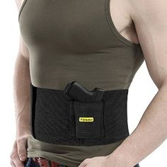 Amazon.com : Adjustable Tactical Elastic Concealment Belly Band Abdominal Belt Waist Pistol Handgun Gun Holster for Concealed Carry With Dual Magazine Pouches - Fits Waist Sizes from 30 to 37 Inch by Yosoo : Sports & Outdoors