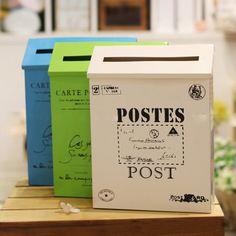 grafiet multicolor mode vintage tin rustieke metalen brievenbus krant dozen derlook melkbox ideeënbus tekenen doos