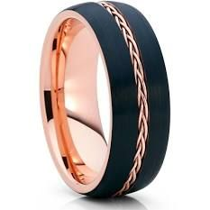 – Rose Gold Tungsten – Black Wedding Band – Braid Ring – Tungsten Ring – Clean Casting Jewelry Source by indirasuarezsanchez Black Gold Jewelry, Black Rings, Silver Rings, Black Tungsten Rings, Braided Ring, Tungsten Wedding Bands, Wedding Men, Trendy Wedding, Anillo De Compromiso