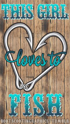 Boot Scootin' Graphics — This Girl Loves to Fish iPhone 5 Wallpaper