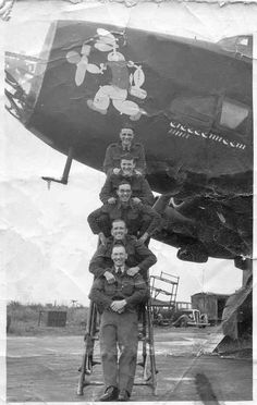 men of 102 Squadron. Aeropostale, Handley Page Halifax, Air Force Aircraft, Airplane Art, Vintage Air, Ww2 Planes, Historical Maps, Royal Air Force, Nose Art