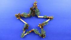 Weihnachtsdeko upcycling Idee ❁ Wanddeko Stern basteln ❁ Deko Ideen mit ...