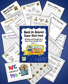 Back to School Super Start Pack by Laura Candler - The first week of school is the most critical week of the year, and it's important to get your class on the right track from the first day. Spending a little time up front to create a caring classroom community will pay off later when it's time for your students to work together. These activities are all you need for a super start to the new year! $