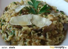 Hříbkové risotto (Risotto ai fungi porcini) recept - TopRecepty.cz