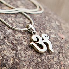 Sivana — Sterling Silver OM Necklace