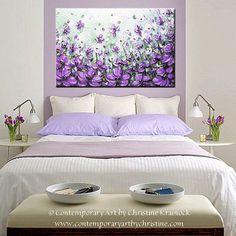 ORIGINAL Art Abstract Painting Lavender by ChristineKrainock