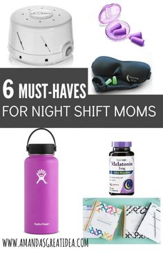 Do you work night shift? Here are 6 must have items for getting quality sleep, especially if you're a mom! | night shift | working mom | sleep