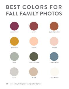 Kate L Photography - KLP Session Guide for Families - Page 36-37 - Created with Publitas.com Fall Family Picture Outfits, Family Picture Colors, Family Photos What To Wear, Summer Family Photos, Fall Family Pictures, Fall Photos, Picture Ideas, Photo Ideas, Family Pics