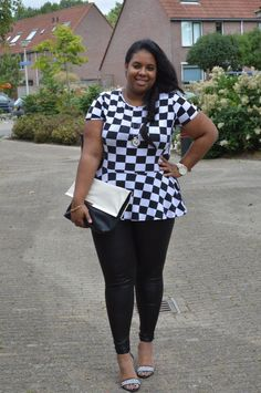 Supersize my Fashion: The Checked Peplum