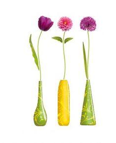 Autocollant mural Vase de Fleurs #deco