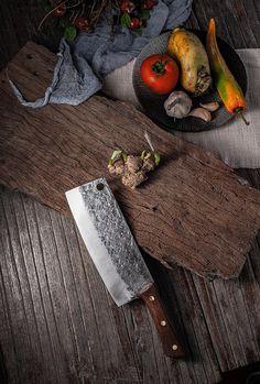 Forging Knives, Forged Knife, Vegetable Slice, Copper Nails, Cleaver Knife, Butcher Knife, Best Gifts For Him, Kitchen Knives, Handmade Kitchens