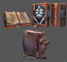 ArtStation - Ancient Library Characters 01-Book Keepers, Abe Taraky