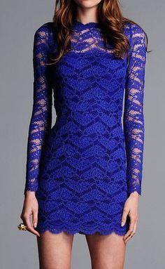 ALEXIS Maeve Open Back Short Lace Dress