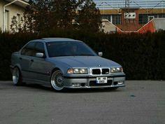 BMW E36 3 series silver