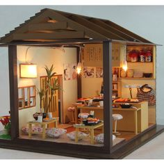 -200051-Wooden-Doll-House-Japan-Cherry-Sushi-Shop-w-Dust-Cover-Miniature-Dollhouse-DIY-Kit.jpg (800×800)