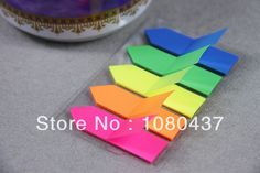 1000pcs/lot Free shipping post  it notes color index  PET post it notes use N times notes US $7.99