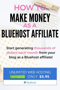 How to make money as a Bluehost affiliate! Are you ready to start making serious income from your blog?! My tried and true tips and tactics will show you how! And, if you haven't yet started your blog, check out this page to receive a special discount through Bluehost! :)
