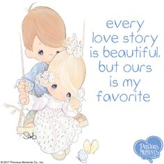 """We all have love stories with our sweethearts, our friends and our family. What's your favorite way to say, """"I love you""""? Tell us in the comments below!  #PreciousMoments #LifesPreciousMoments #LoveStory #Love #ILoveYou"""