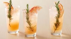 Paloma Fizz Mocktails. A refreshingly unique drink with a hint of savory rosemary.