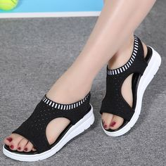 Women s sandals 2018 summer platform breathable comfort walking sandals Cute Sandals, Shoes Sandals, Women Sandals, Shoes Women, Ladies Shoes, Gladiator Sandals, Sandal Heels, Strap Sandals, Sandals 2018