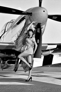 Two of the most beautiful things in the world, a woman and an aircraft....together!
