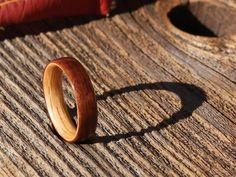 East Indian Rosewood Bentwood Ring with Oak Liner by BojtStudio, $80.00