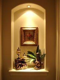 ideas to decorate a wall niche - Google Search. That's what I need - add a light in the niche!