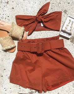 Cute Summer Outfits, Pretty Outfits, Stylish Outfits, Cute Outfits, Girl Fashion, Fashion Outfits, Womens Fashion, Crop Top Outfits, Mode Inspiration