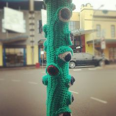 A little creepy! #DIY #Yarnbombing