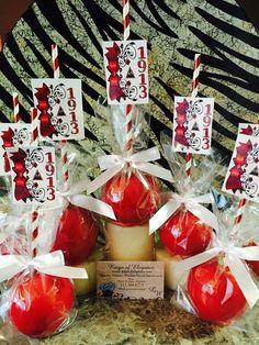 Delta Sigma Theta Sorority Candy Apples One Skinny Baker