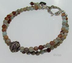 Impression Jasper Two Strand Bracelet http://www.rivaajewelry.com/products/impression-jasper-two-strand-bracelet