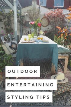 Style Your Outdoor Entertaining Space in 4 Steps - With French Connection - WeLoveHome - Home Outdoor Garden Rooms, Garden Spaces, Interior Design Advice, Interior Stylist, Summer Garden, Home And Garden, Garden Art, Hygee Home, Scandi Home
