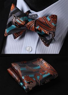 Item Type: Ties is_customized: Yes Pattern Type: Paisley Department Name: Adult Gender: Men Style: Fashion Material: Silk Size: One Size Ties Type: Bow Tie