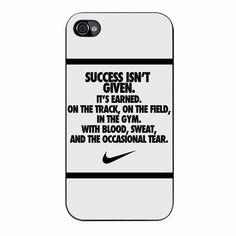 Nike Quote With Logo 2 iPhone 4/4s Case