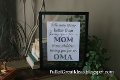 Full of Great Ideas: Christmas in September - Free Printable -The Only Thing Better than Having you for a Mom