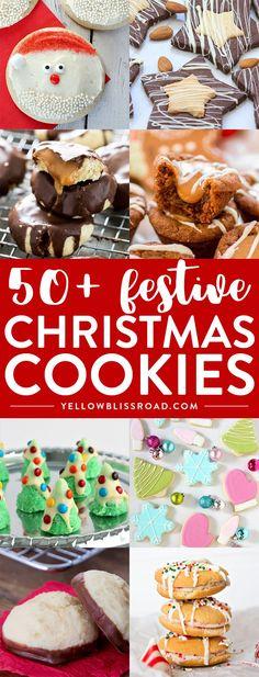 50+ Festive Christmas Cookies | Best Christmas Cookies | Easy Christmas Cookie recipes