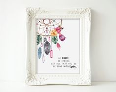 Hey, I found this really awesome Etsy listing at https://www.etsy.com/listing/250975564/bohemian-dream-catcher-nursery-art-print