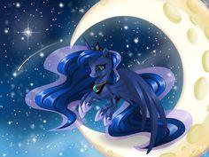 Princess Of The Night My Little Pony List, My Little Pony Princess, My Little Pony Friendship, Celestia And Luna, Princess Celestia, Nightmare Moon, Mlp Fan Art, Moon Princess, Princess Pictures