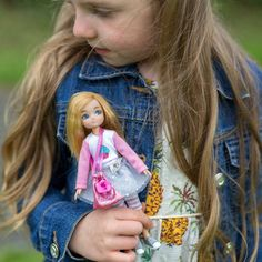 Lottie Doll by Birthday Girl 7 Inch Doll With Blond Hair And Blue Eyes Style: no fringe, Today Is My Birthday, Girl Birthday, Girl Dolls, Barbie Dolls, Barbie Clothes, Doll Shoes, Cute Dolls, Ball Jointed Dolls, Toys For Girls