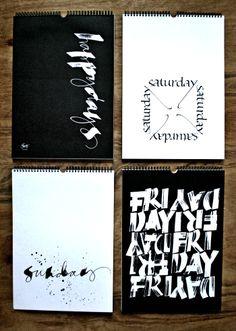 Happy Days - perpetual calendar by Ylva Skarp http://www.lamaisondannag.com/fr/deco-murale/303-calendrier-perpetuel-happy-days-.html