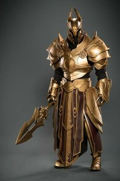 Paladin Elite Guard of Tir Tairngire Wearing Magically Enhanced Ceremonial Heavy Combat Armor