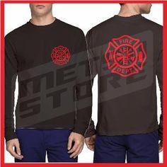 Kaos Pemadam Kebakaran 1 Kaos Hitam Kaos Distro Lengan Panjang Metsu Store