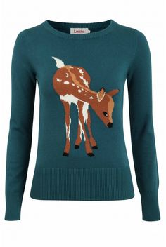 Louche Babianne Deer Intarsia Jumper