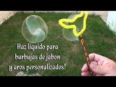 Como hacer el liquido para hacer burbujas y arillos personalizados - YouTube Crafts For Kids, Youtube, Tips, Paper, Cake, Giant Bubbles, Nursery Rhymes, Soaps, Crafts For Children