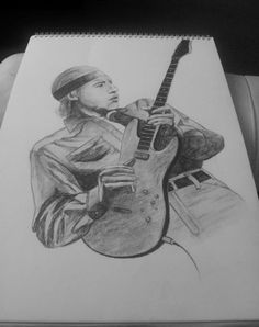 The one and only Mark knofler. Graphite drawing, 10-12 hours of work.