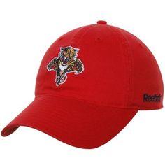 f7eec2ba1c3 NHL Reebok Florida Panthers Basic Logo Adjustable Slouch Hat - Red