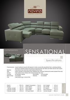 sensational Sofa, Couch, Polyurethane Foam, Hardwood, It Is Finished, Contemporary, Home Decor, Settee, Settee