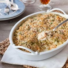 Creamy Green Baby Lima Bean And Shrimp Casserole :: Recipes :: Camellia Brand Cajun Recipes, Seafood Recipes, Cooking Recipes, Healthy Recipes, Creole Recipes, Seafood Dishes, Crockpot Recipes, Shrimp Casserole, Casserole Recipes