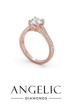 Rose gold engagement rings are simple stunning. This diamond engagement ring features a large centre diamond with even more diamonds running down either side. #presentideas #presentinspo #presentinspiration #valentinesdaygifts #valentinesdaypresents #christmasgifts #christmaspresents Elegant Engagement Rings, Round Diamond Engagement Rings, Valentines Day Presents, Round Diamonds, Diamond Jewelry, Diamond Jewellery